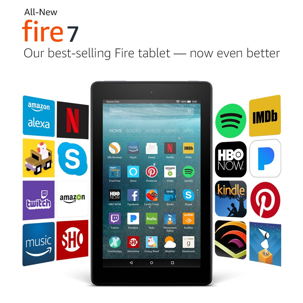 Amazon Kindle Fire 7 With Alexa,Black