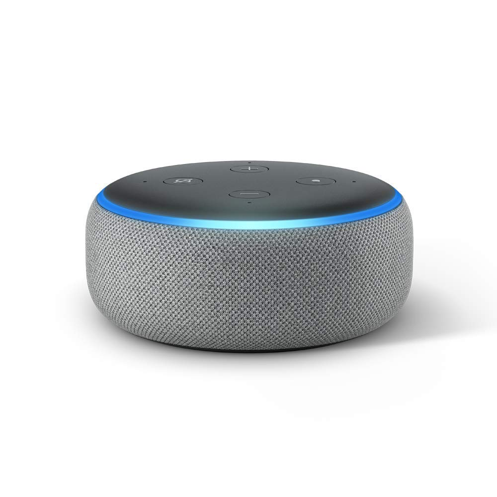 Amazon Echo Dot 3rd, Heather gray, 2018