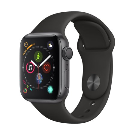 Apple Watch S4 44mm Black Sport Band MU6D2LL/A