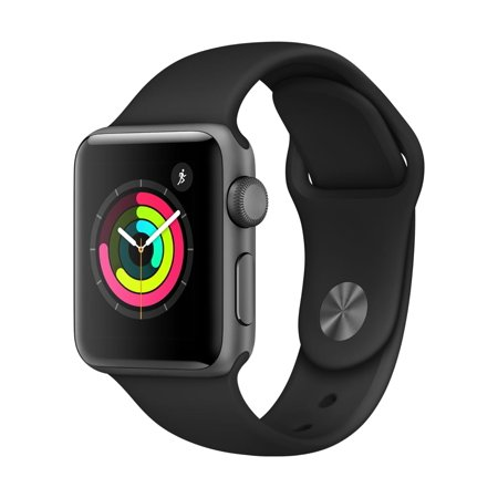 Apple Watch Series 3 38mm Space Gray Aluminum Black
